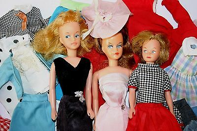Vintage Doll American Character Tressy And Cricket With Tagged Clothing Lot