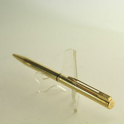 Rare Waterman Master Ballpoint Pen Gold Plated Twist Type ,Made In France (66524