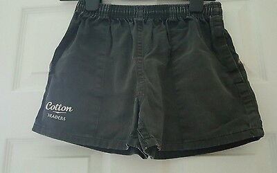 Cotton traders heavy cotton rugby shorts - size xxs