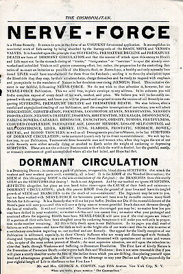 """1900 Quack Cure --Scathing """"Buy It or Die"""" Type ad -Cures Everything!!-[-259"""