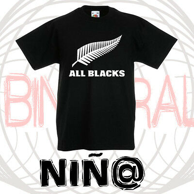 Camiseta Niña-Niño Rugby All Blacks New Zealand
