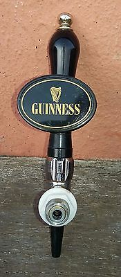 retro/vintage guinness bar tap, brass and chrome fitments. home brew, man cave.