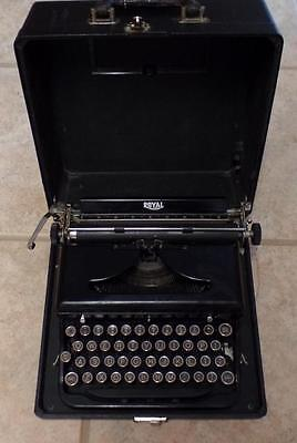 1935 Vintage Royal Model O 0 Typewriter With Cary Case In Vg Working Condition