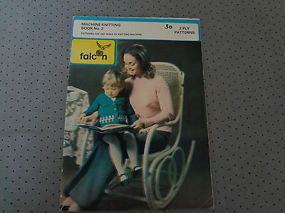 machine knitting patterns booklet by Falcon for any make of Machine circa 1970