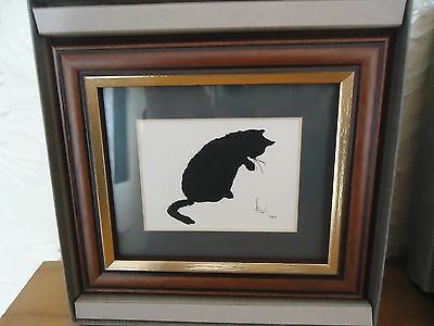 Black Cat Silhouette Framed Limited Ed Print from The Perspectives Collection