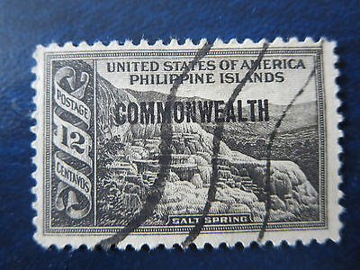 "Usa Stamps  Used  Philippine Islands .12 Centavos ""commonwealth"" Overprint"