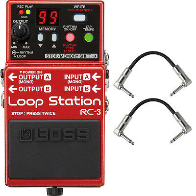 Boss RC3 RC-3 Loop Station Guitar Effects Pedal Stompbox Footswitch + Cables