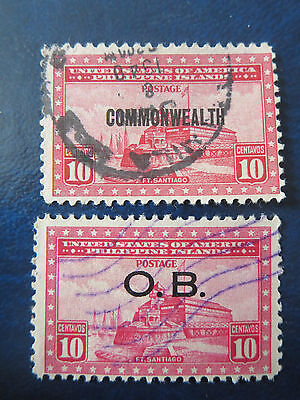 Usa Stamps  Used  Philippine Islands Overprints  O.b./commonwealth