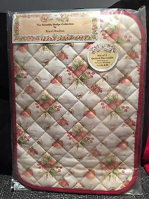 Royal Doulton Brambly Hedge Mrs Apple Kitchen Set 2 Quilted Placemats Sealed