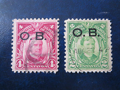 Usa Stamps  Used  Philippine Islands  O.b. Overprints