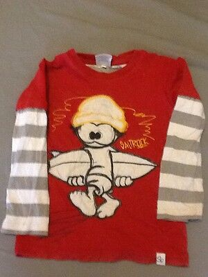 Boy's Saltrock Long Sleeved Red T-shirt Age 2-3 Years