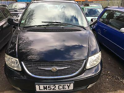 Chrysler Voyager 2.5CRD LX Black Diesel 1 Previous Keeper Low Mileage 7 Seater