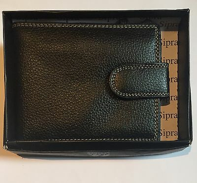 Mens REAL Leather Wallet with Snap Top Coin Purse |
