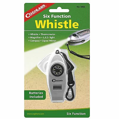New! Coghlans Six Function Whistle Model: 0466