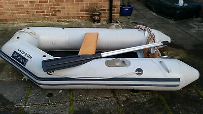 Seago 230 inflatable tender dinghy with cover, oars, seat, ropes, pump & bow bag