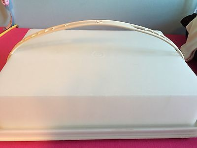 Tupperware Rectangle Cake Taker Storage Container Almond  Strap