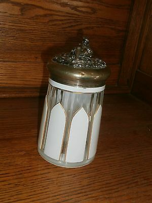 Russian beer stein, Sterling silver, Hand pained Antique, 1860s