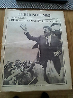 President Kennedy's Visit To Ireland Irish Times A Pictorial Record July1st 1963