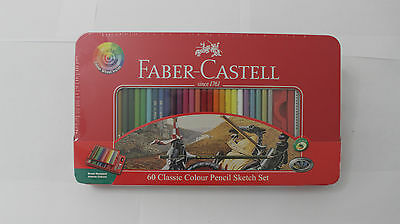 Faber-Castell Classic Colour Pencil Sketch Set Tin Pack of 60