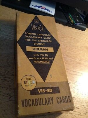 Vis-Ed German Vocabulary Cards (1000 count)