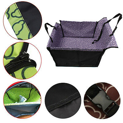 Single-seat Pet Dog Cat Rear Back Car Seat Cover Protector Hammock Mat  Blanket