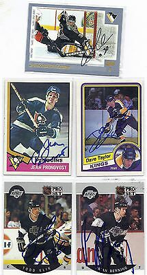 1975 Topps #110 Jean Pronovost Pittsburgh Penguins Signed Hockey Card
