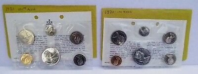 Two 1970 Royal Canadian Mint 100th Anniversary Mint Sets