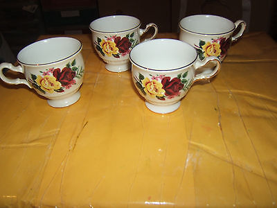 Vintage 4 x Queen Anne Lefton F47 Bone China Cups Pattern No. 8630