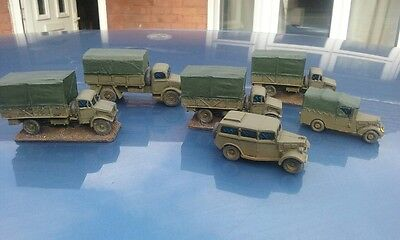 20mm resin WW2  well painted 6 British Vehicles Free UK postage