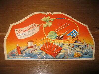 Vintage Household Assortment 100 Needles Folder - Made In Western Germany