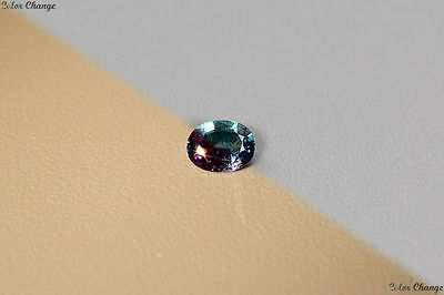0.115 Ct Unique 100% Nr' Dancing Color Change Alexandrite Gemstone Aaa Oval !!!!