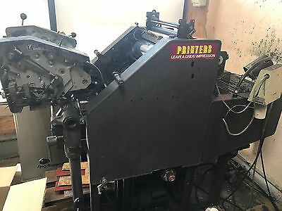 AB Dick 9810 Printing Press With T-Head + Kimosetter & extras!!!!