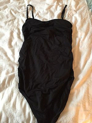 Next Black Maternity Swimming Costume Size Uk10