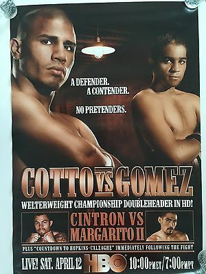 Miguel Cotto vs Gomez HBO Boxing Poster 4/12/08 Boardwalk Hall Atlantic City NJ