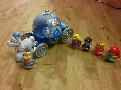 fisher price little people disney princess cinderella carriage and figures