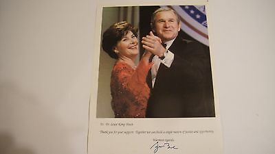 First Lady Laura Lane Welch Bush And Husband Portrait