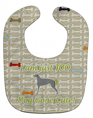 Carolines Treasures  BB6501BIB Scottish Deerhound Dog Gone Cute Baby Bib