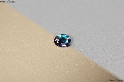 0.095 Ct Unique 100% Nr' Dancing Color Change Alexandrite Gemstone Aaa Oval !!!!