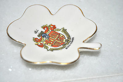 Swan, 'boscombe' Crested China Clover Leaf Pin Dish