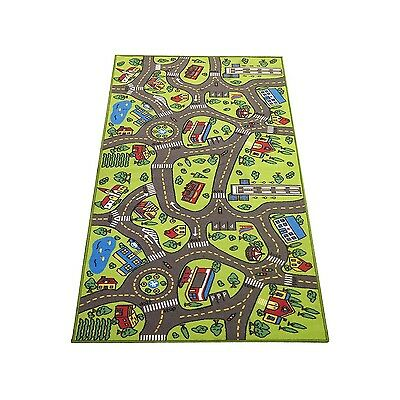 """Extra Large 79"""" x 40""""! Kids Carpet Playmat Rug- Great For Playing With Cars -..."""