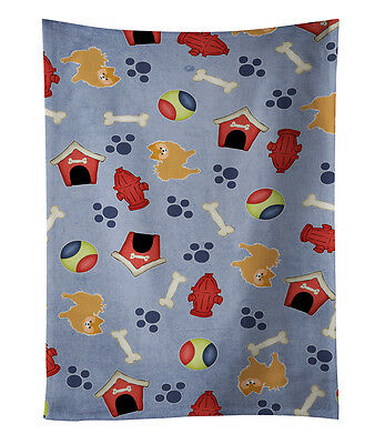 Dog House Collection Red Pomeranian Kitchen Towel