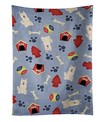 Dog House Collection White German Shepherd Kitchen Towel