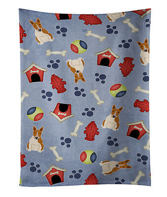 Dog House Collection Bull Terrier Red White Kitchen Towel