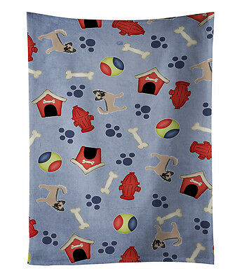 Dog House Collection Longhair Black  Tan Chihuahua Kitchen Towel