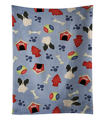 Dog House Collection Papillon Black White Kitchen Towel