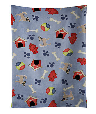 Dog House Collection Longhair Black  Tan Chihuahua #2 Kitchen Towel