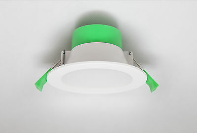 10 x 10W IP44 DIMMABLE LED DOWNLIGHT KIT CUTOUT WARM COOL WHITE DAY 90mm DIM