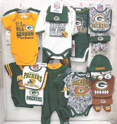 Boy's Green Bay Packers 0-3 Months Baby Wear Clothes Wholesale Lot