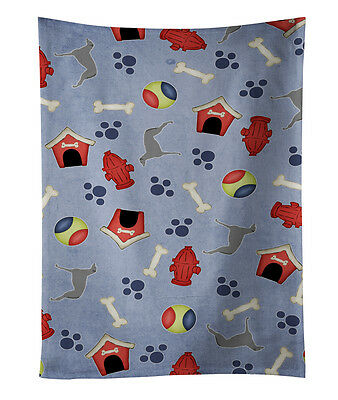 Scottish Deerhound Dog House Collection Kitchen Towel
