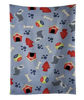 Bearded Collie Dog House Collection Kitchen Towel